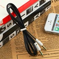 3.5mm Male to Male 1m Stereo Audio Jack AUX Auxiliary Cable For iPhone for iPod MP3 Black