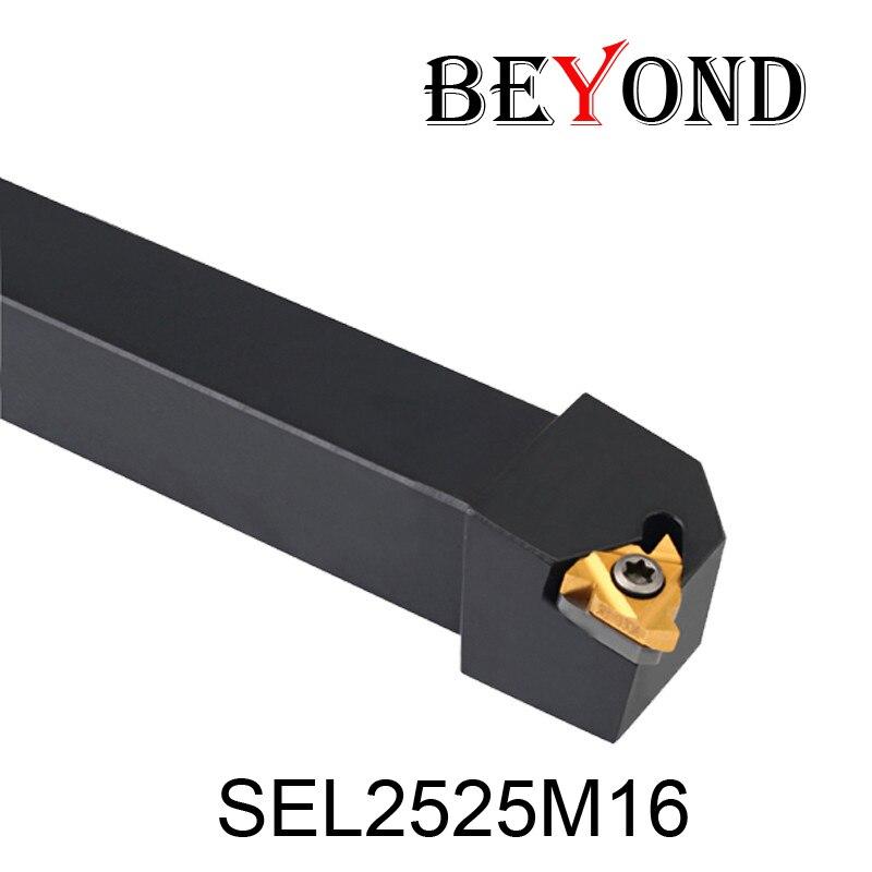 OYYU SEL SEL2525 SEL2525M16 keermestamise treipingi tööriistahoidja 16ER-i sisestusega puurvarda jaoks CNC-masina treipingi tööriistade lõikur