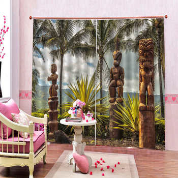 Nature's magical beautiful landscapes of trees Landscape Beautiful And Practical 3d Digital Printing Curtain
