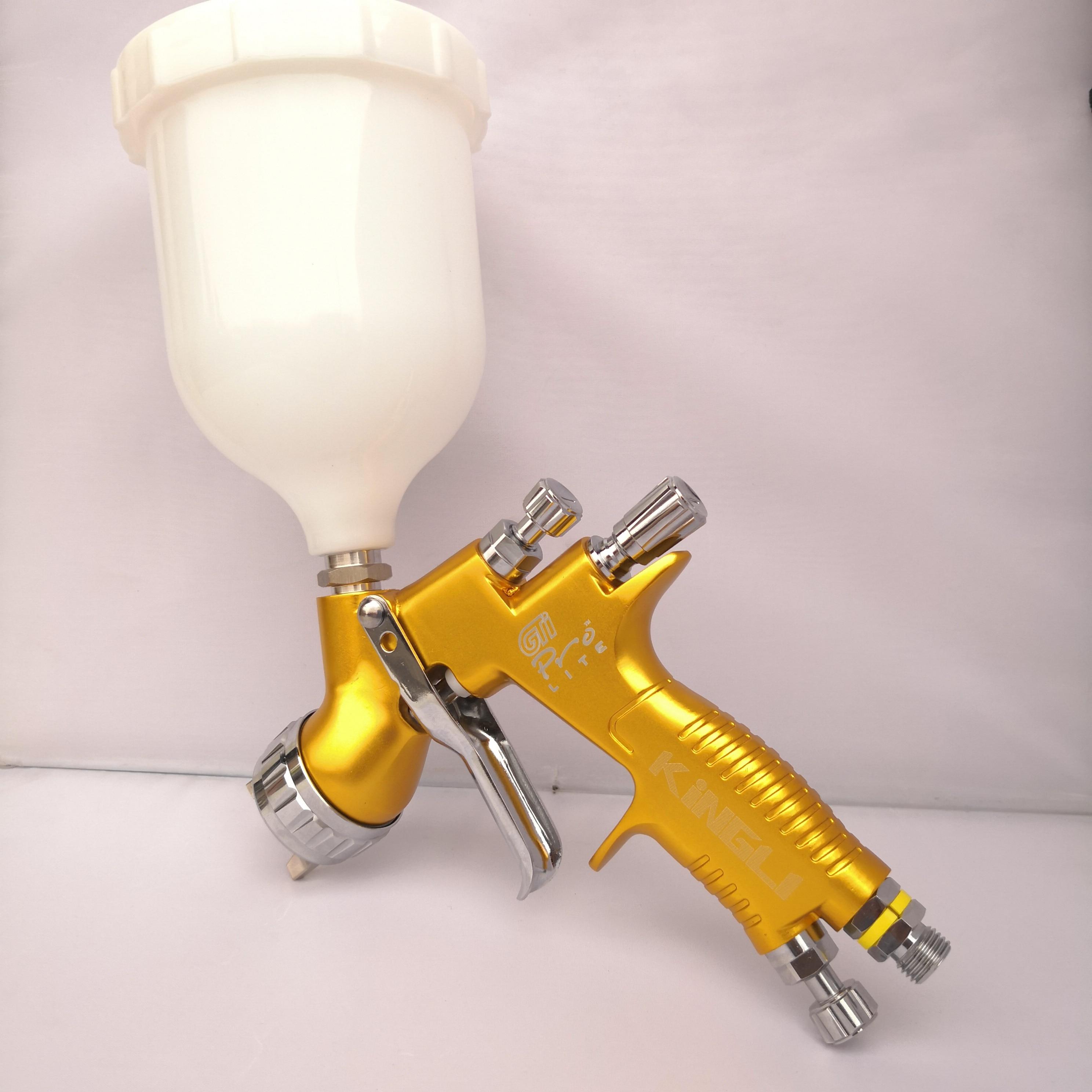 Professionnel Sparyer GTI PRO LITE OR/NOIR 1.3mm noz. W/t tasse LVMP Peinture De Voiture Outil Pistolet Pistolet protection de l'environnement