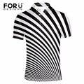 Forudesigns nova camisa polo ocasional homens moda striped imprimir-manga curta camisa confortável novidade top camisa polo dos homens para o sexo masculino