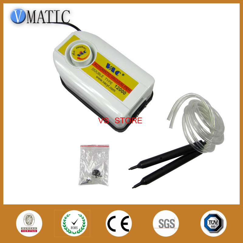 Free Shipping Automatic Vacuum Suction Pen/ Pump VAC 12000 for bga repair, double head, good suction