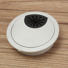 1Pcs 50mm ABS Plastic Desk Wire Hole Cover Base Computer Grommet Table Cable Outlet Port Surface Line Box Furniture Hardware(China)