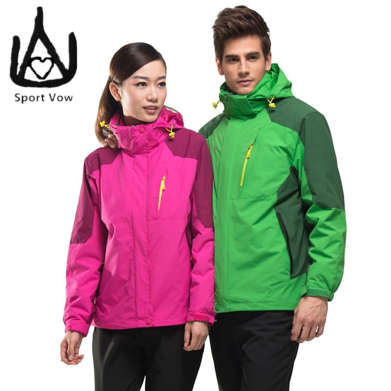 ФОТО Outdoor Brand Hiking Mountaineering Jackets 3 in 1 Jacket Men Windbreaker Polartec Fleece Jacket Waterproof Windproof Jacket