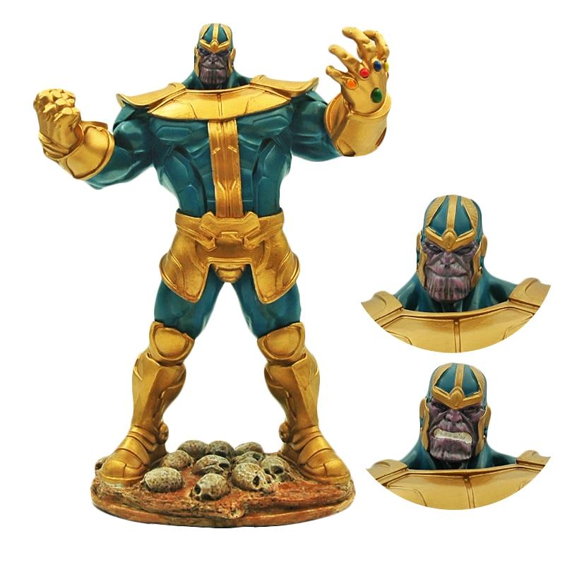 Pandadomik Thanos grande taille 34 cm résine 14 pouces jouet Figure modèle Avengers Action jouet figurines infinity war Man garçons Marvel jouets
