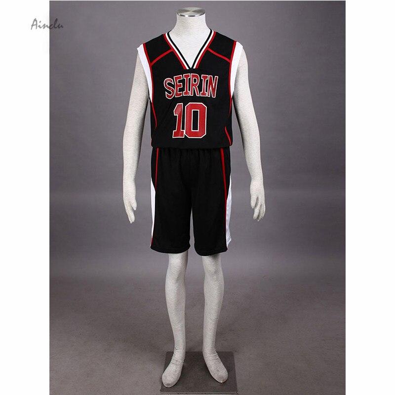 Ainclu Cosplay Kuroko's Basketball Kuroko no basuke II Kagami Taiga SEIRIN Black Costume Jersey NO.10 No.11 Sportwear Uniform