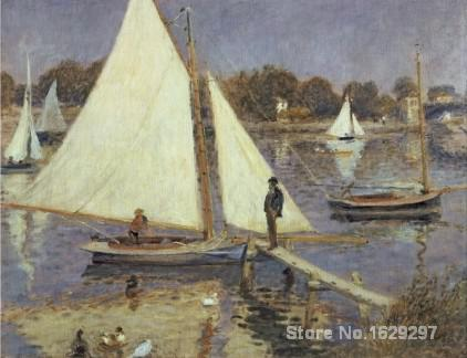 discount canvas paintings art by Pierre Auguste Renoir The Seine at Argenteuil Hand painted High qualitydiscount canvas paintings art by Pierre Auguste Renoir The Seine at Argenteuil Hand painted High quality