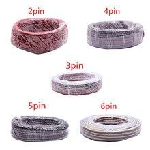 2 контактный, 3 контактный, 4 контактный, 5 контактный, 6 контактный, 22AWG светодиодный проводной RGB кабель для светодиодной ленты WS2812, WS2811, RGB, RGBW, CCT, 5050, 3528
