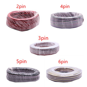 Image 1 - 2pin 3pin 4pin 5pin 6pin 22AWG Led Connect LED RGB wire Cable For WS2812 WS2811 RGB RGBW  RGB CCT 5050 3528 LED Strip