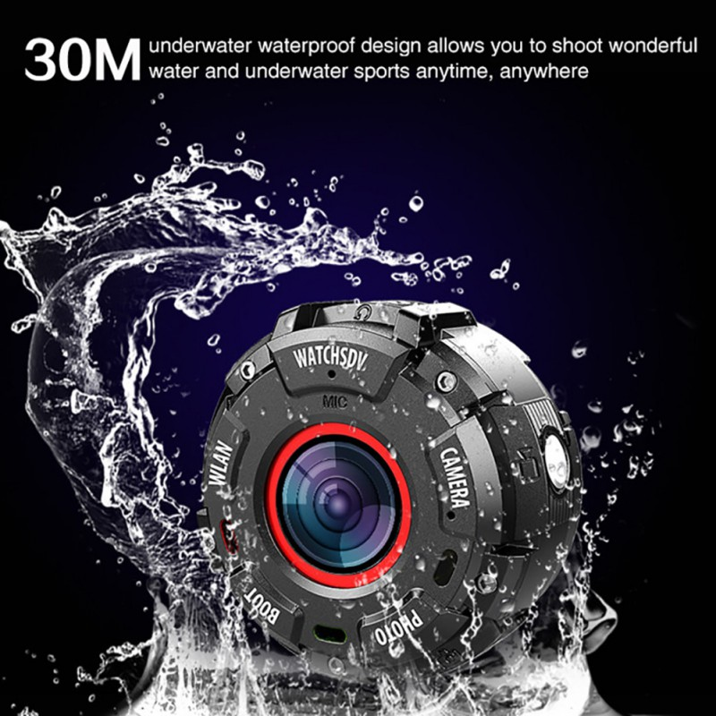 1080P Waterproof Car DVR Wearable and Detachable Smart Sports Camera Watch Camera APP Wifi Magnetic Base Hunting Camera 2082(China)
