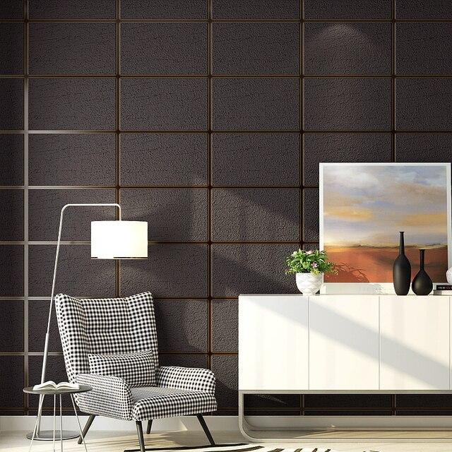 Grey 3D Faux Marble Wallpaper Roll Squares Decorative Concrete block ...