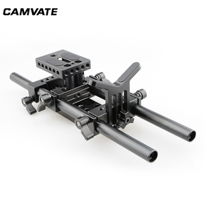 Image 2 - CAMVATE DSLR Camera Shoulder Support Kit With Baseplate Mount & Lens Suppor & Tripod Mounting Plate For Cage/ Tripod/ Stabilizer