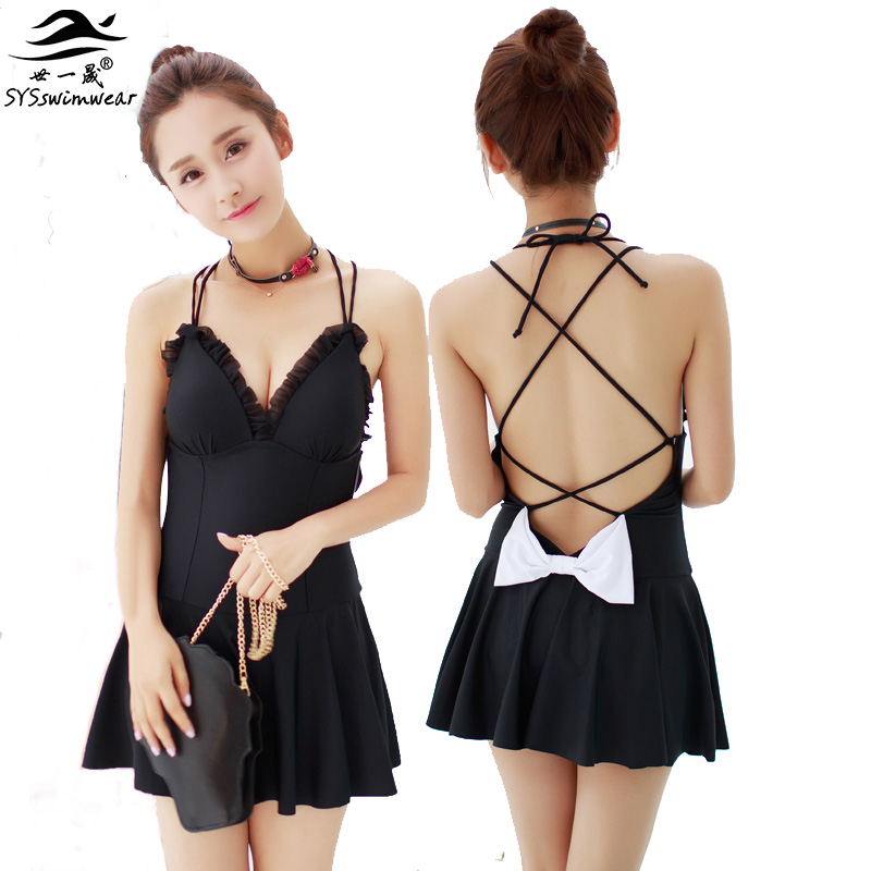 High quality New Summer beach Sexy girl Solid Backless Big Bow One piece swimwear bathing suit Concise Design swimsuit high quality new summer beach sexy girl solid backless big bow one piece swimwear bathing suit concise design swimsuit