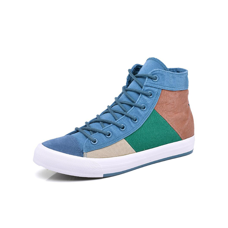orange Top Mens green Casual Toile Chaussures Pour Patchwork High Gray Occasionnels Mode Hommes u1TcF35JlK