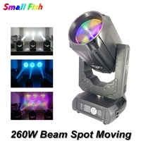 New Color Music Stage Moving Head Light 260W Beam Spot 2IN1 DMX512 Moving Head 16/48 Prism DJ Disco Light Party Bar Club Lights