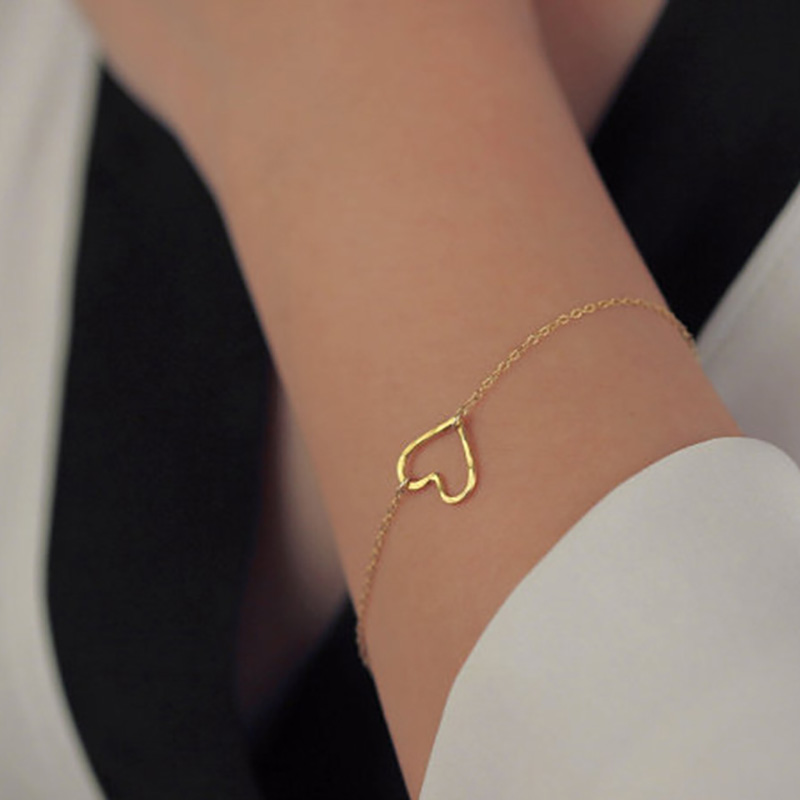 Aliexpress New Fashion Heart Bracelet Delicate Simple Gold Women Gift For Her Sl003 From Reliable Suppliers On Nine