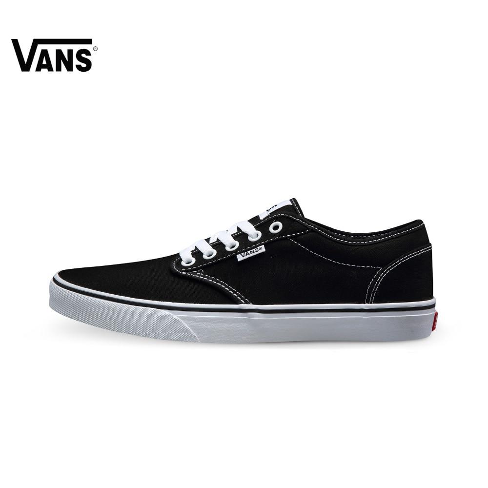 Original  Vans Black Color Low-Top Men's Skateboarding Shoes Sport Shoes Sneakers free shipping original vans white color women skateboarding shoes sneakers beach shoes canvas shoes free shipping