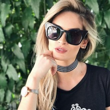 Cat Eye Plastic Sunglasses Women Fashion Red Kids Parenthood 7 Glasses Brand Designer