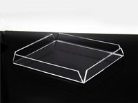 Modern Premium Clear Acrylic Small Tray Tabletop Jewelry Display Stand Cosmetic Collectible Show Case