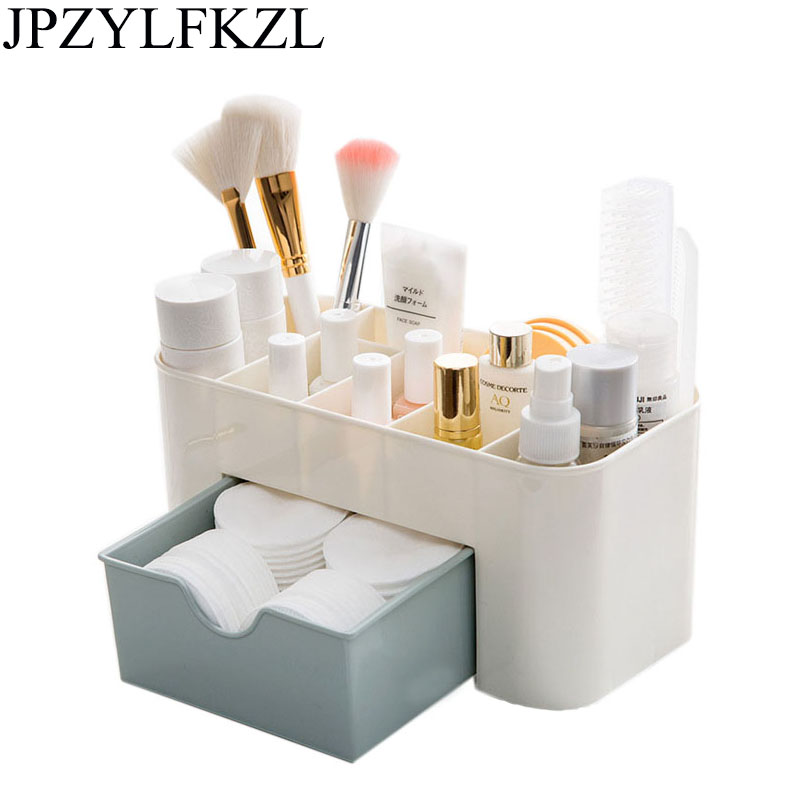 Plastic storage box Cosmetic Jewelry Storage Lipstick Box drawer organizer Makeup Stationery Grocery makeup