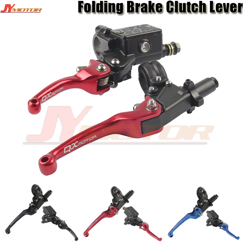 Motorcycle parts ASV CNC Folding Brake Lever Clutch Lever With Front Pump Fit CRF KLX YZF RMZ Motorcycle Dirt Bike Motocross цена