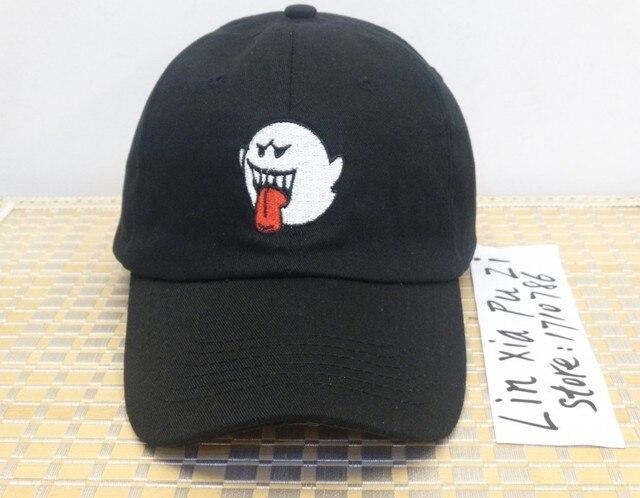 Preto denim angustiado boo mario santo pai cap chapéu drake kanye west moda  casquette snapback bonés 79386bf95f4