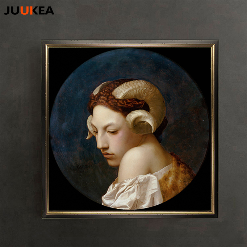 Us 9 94 Bacchante Orcish Myth Arcadia Renaissance By Artist Jean Leon Gerome Classic Oil Painting Print On Canvas Wall Decor Home Decor In Painting