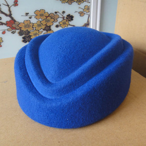 Image 2 - Fancy Elegant Pure Wool Cap Air Stewardess Hat 7cm Height Solid Pillbox Hat Cocktail Fascinatot Beret Hat Base Millinery