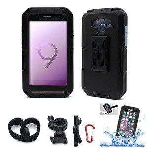 Мотоциклетный велосипедный держатель для телефона, крепление для samsung S8 S9 Plus, спортивный водонепроницаемый защитный чехол, держатель для ве...