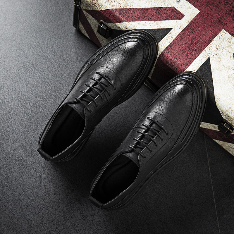 2018 spring luxury men summer British casual shoes genuine leather for boy boost trainers work mens dress shoes 12999