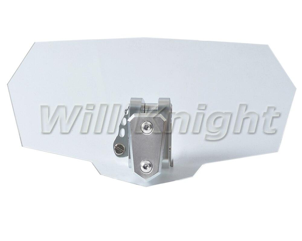 Réglable Clip Sur Pare-Brise Pare-Brise Extension Spoiler Vent Déflecteur Réglable Verrouillable Pour Moto