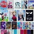 Rapunzel princesa Snow Queen Elsa Anna Cinderela Sereia Branca de Neve de Couro Cobrir Caso para Caso OSTRAS T72HM 3G 7 Polegada Tablet