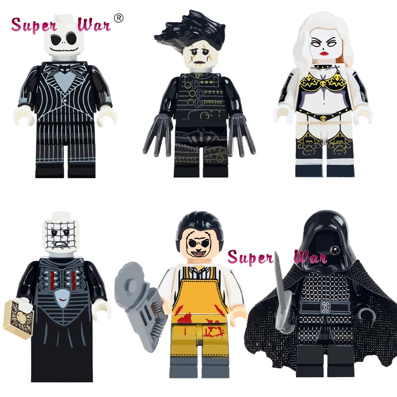 1 Pcs Die Horror Halloween Thema Film Film Texas Chainsaw Horror Jack Skellington Bausteine Ziegel Spielzeug Für Kinder Kits