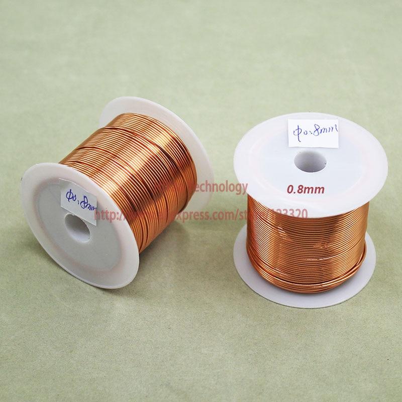 21 Mt 100 Gramm Polyurethan Emaillierten Kupfer Draht Durchmesser 0,80mm Lackiert Kupfer Drähte Qa-1/155 2uew Transformator Draht Jumper Beleuchtung Zubehör