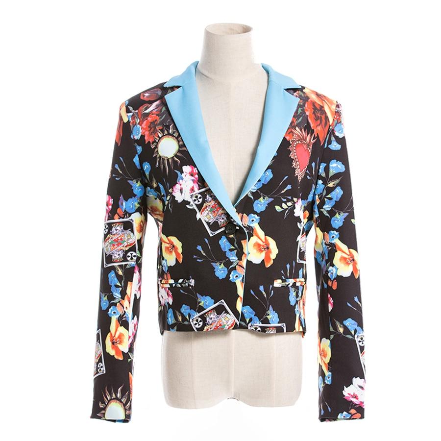 Piste Ensemble longueur Costumes Manches 2018 2 Floral Blazer Pleine Femmes Tops D'impression Pantalon Crayon Automne Designer Raeleseen Cheville Pièce 56UnRx4wWA