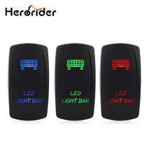 12V 24V LED Light Bar Toggle Rocker Switch SPST ON-OFF 5 Pin Blue/Red/Green  for Car Boat Truck Universal