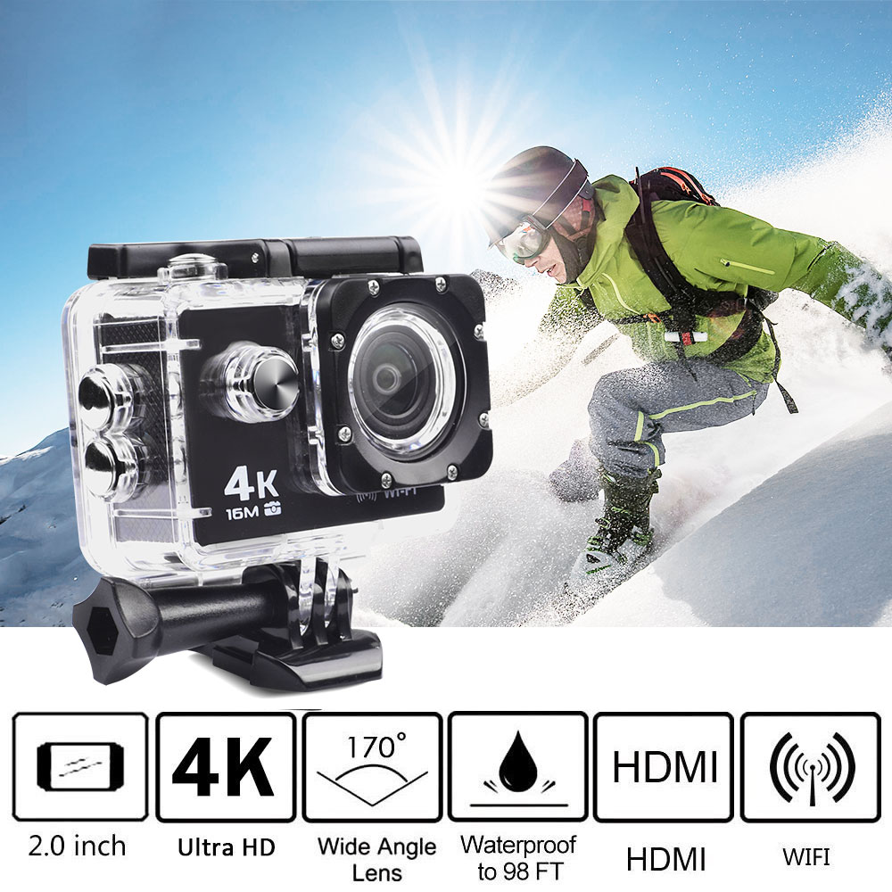"Sport DV Waterproof Action Camera Allwinner V3 SONY 179 2.0"" 30m 4K Video Camera LCD Outdoor 12MP 60FPS Diving Optional Packag"