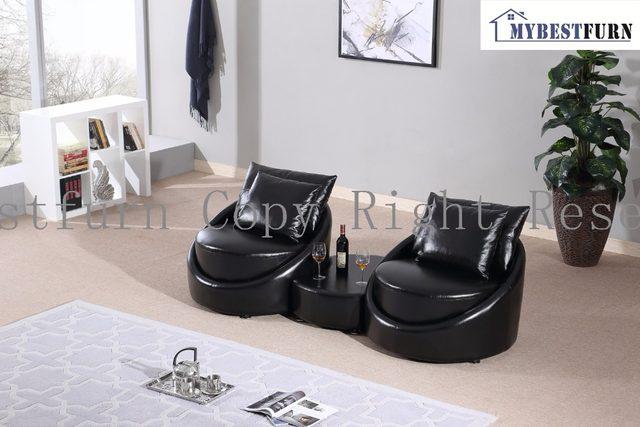 Divano Nero Moderno : Online shop mybestfurn moderno divano nero fatto di spessore in
