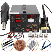 SAIKE 909D Soldering Station Heat Gun Desoldering Station Power Multi Function 3 in 1 Constant Temperature Soldering Iron