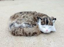 Simulation sleeping cat polyethylene&furs cat model funny gift about 27*21CM
