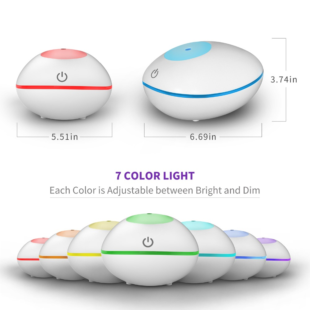 200ml USB Ultrasonic Air Humidifier Aroma Essential Oil Diffuser Fragrant with Wood Grain 7 Color Lights for for Office Home in Humidifiers from Home Appliances