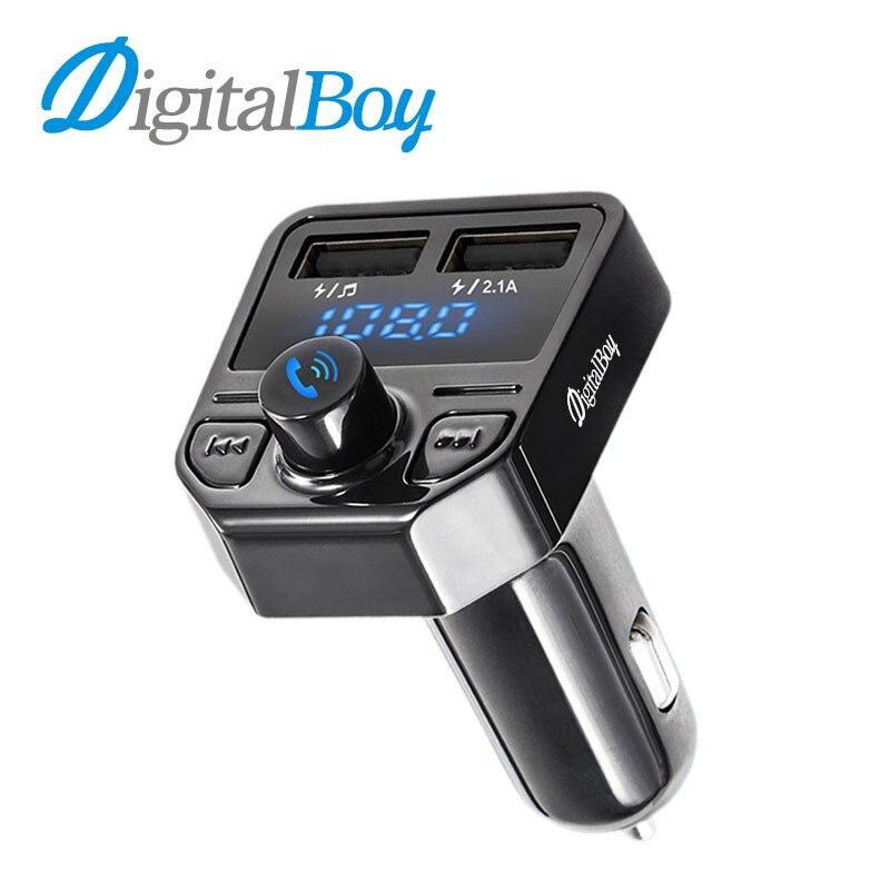 Digitalboy Bluetooth гарнитура для авто громкой связи Автомобильный fm-модулятор передатчик MP3-плееры Dual USB Автомобильное Зарядное устройство играть ...