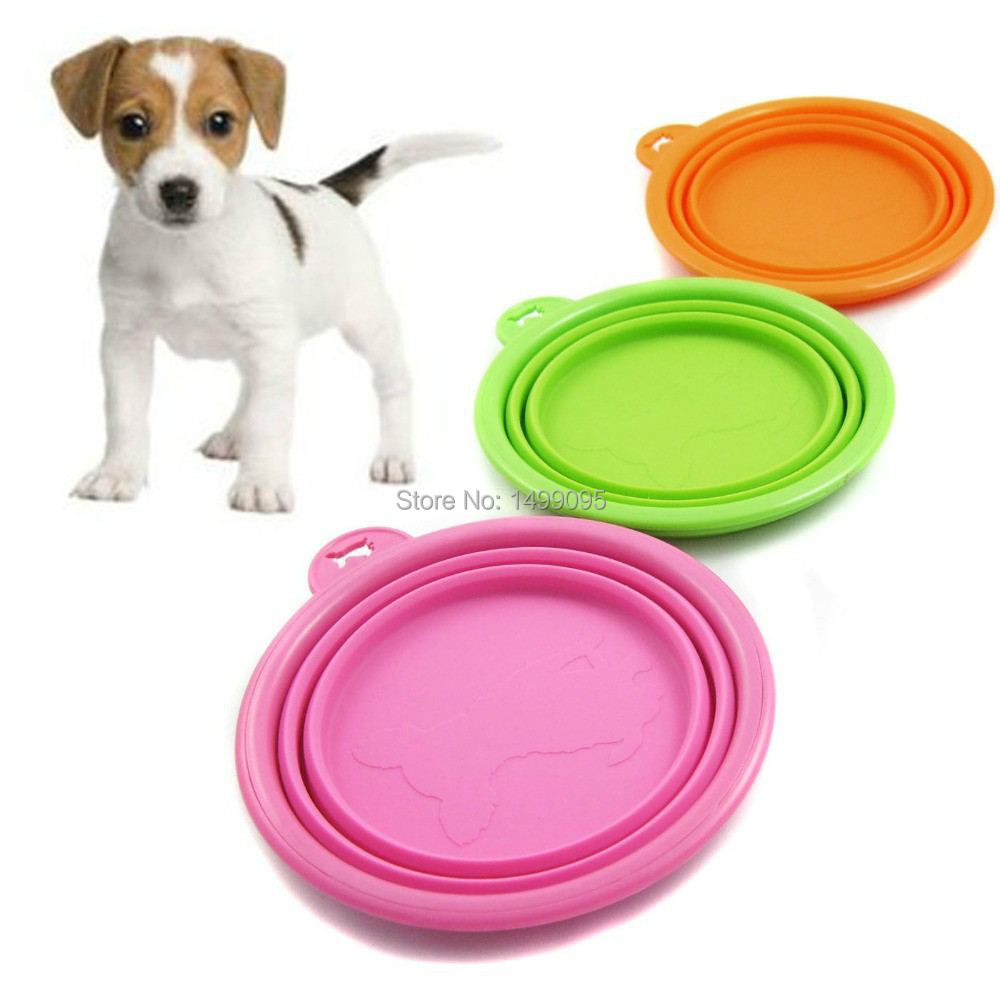 Foldable Plastic Dog Cat Drinking Water Feeder Outdoor: Folding Dog Bowl Easy Take Pet Dog Cat Bowl Puppy Drinking