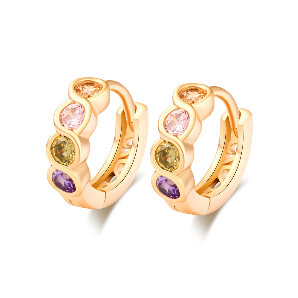 earrings b golden ring l pink hoop large bvlgari gold