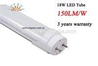 25 pçs/lote 4ft T8 alta lumen Levou Tubo 1200mm 150lm/W Fluorescente tubo 85-265 V AC Pure/Quente/Frio Branco SMD2835 1.2 m T8 tubo