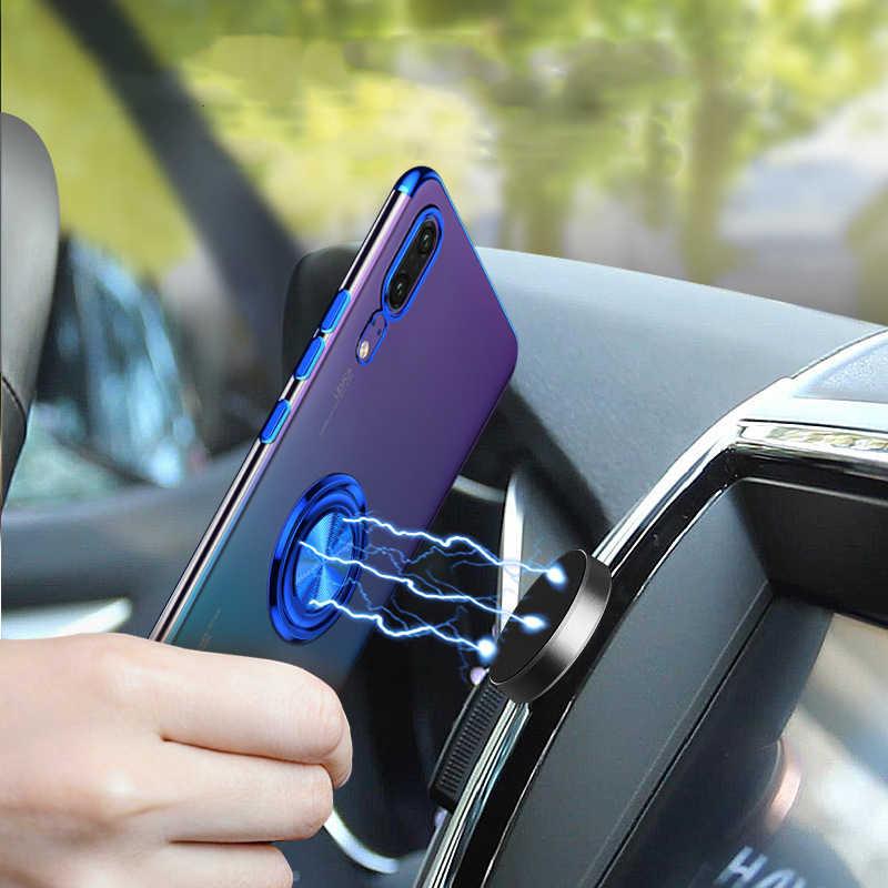 Чехол для huawei P30 Pro Lite P20 Nova 4e 4 3e P Smart 2019 Y7 премьер Y6 2019 магнит стоячая подставка автомобиль Прозрачная крышка принципиально случае