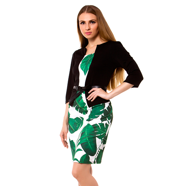 CYAN Elegant Summer Dresses For Women 2018 Sexy Office Pencil Bodycon Dress Female Casual Patchwork Party Dresses 2XL vestidos
