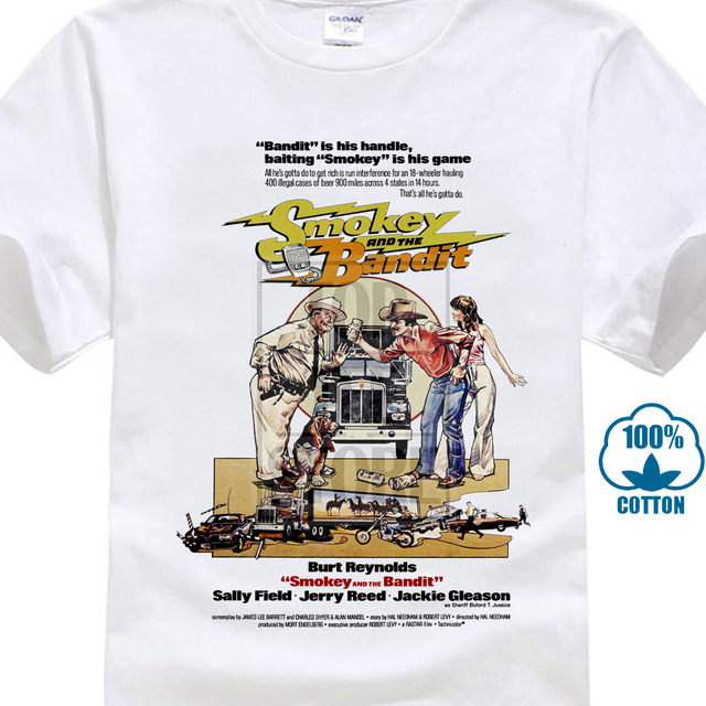 Smokey And The Bandit V2 Movie Poster 1977 T Shirt Chestnut All Sizes S To 4Xl