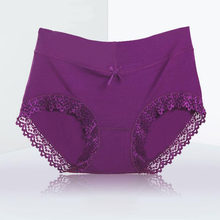 AQ259 Many Colors Sexy Lace Seamless Underwear Women Plue Size Soft Comfortable Panties Lovely Bow(China)