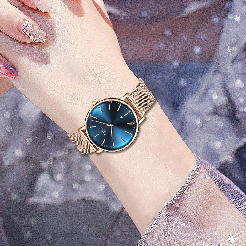 Relojes Hombre 2019 Fashion Casual Watch Women's Men's LIGE Women's Classic Quartz Stainless Steel Waterproof Watch Montre Femme
